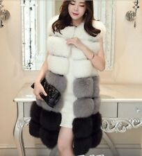 Women Long Coat Warm Jacket Outwear Vest Faux Fur Ladies Gilet Overcoat Winter