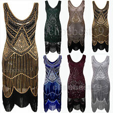 1920's Flapper Dress Gatsby 20's Charleston Sequins Beads Party Women's Dresses