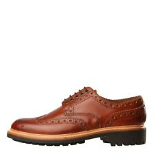 New Mens Grenson  Archie Brogue - Hand Painted Tan  100% Leather