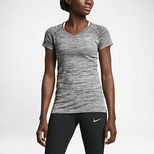 Nike DRI-FIT KNIT WOMEN'S SHORT SLEEVE RUNNING TOP Heather- Size XS,S,M, L Or XL