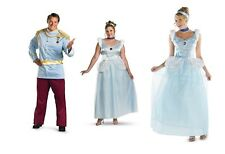 Disney Princess Prince Charming and Cinderella Deluxe Adult Costume Disguise New
