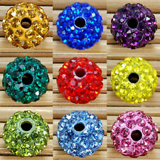 Wholesale Lot 10MM Round Pave Disco Balls Crystal Beads 20 Pcs