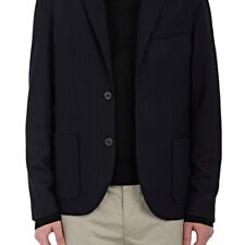 LANVIN MENS PINSTRIPED WOOL-COTTON TWO-BUTTON SPORTCOAT