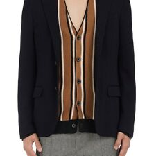 LANVIN MENS WOOL-BLEND TWO-BUTTON SPORTCOAT