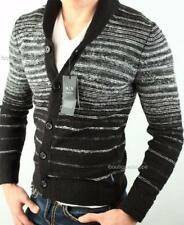 Armani Exchange A X Mens Ombre Striped Knit Cardigan Buttoned Sweater NWT $120