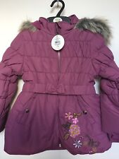 BNWT BHS Winter Coat. Hooded. Girls. Purple. Age 2-8 Years. Lined.