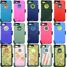 For iPhone 8/8 Plus Defender Heavy Duty Case(Belt Clip Holster Fits Otterbox)