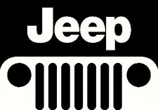 jeep grill vinyl decal window or bumper sticker emblem
