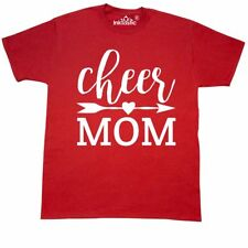 Inktastic Cheer Mom T-Shirt Sports Cheerleading Arrow Heart Mother Team School