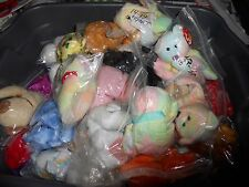 TY BEANIE BABIES BEARS DOGS AND CATS AND MORE NON MINT TAGS FREE SHIPPING