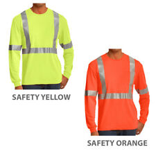 High Visibility ANSI 107 Class 2 Safety Reflective Long Sleeve T-Shirt