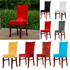 Removable Chair Covers Stretch Fabric Slipcovers Short Dining Room Stool -PICK