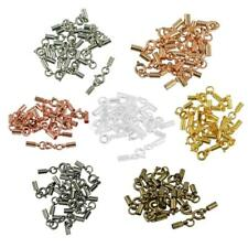 12pcs Brass Spring Ring Clasps 3mm Closed Crimp Leather Cord Ends DIY Jewellery