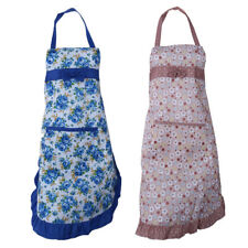 Durable Kitchen Cooking Water Resistant Flower Lace Women Lady Apron Dress NEW