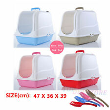 S Portable Hooded Cat Pet Toilet Litter Box Tray House With Handle and Scoop