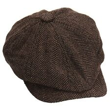 Octagonal Newsboy Cap Hat Color Beret Peaked Gatsby Baker Leather Cabbie Driving