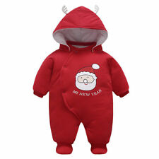 Toddler Infant Baby Boys Girl outerwear Hooded Winter Warm Jacket Snowsuit Santa