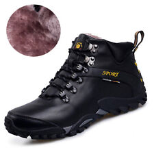 Men Trail Hiking Boots Winter Atheltic Walking Outdoor Shoes Genuine Leather