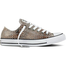 Converse Chuck Taylor All Star Snake Ox Brown Leather Trainers Shoes