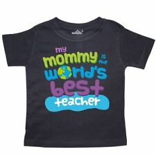 Inktastic Teacher Mommy Gift Toddler T-Shirt Worlds Best My Mom Is Occupations