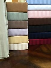 1000TC Soft Egyptian Cotton US Bedding Collection Full Size All Stripe Colors