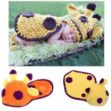 Newborn Baby Infants Crochet Knit Costume Hats Outfit Photo Photography Prop