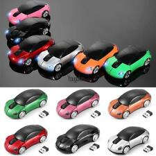 Car Shape 2.4GHz Wireless Cordless Optical Mouse USB Receiver for PC HYFG