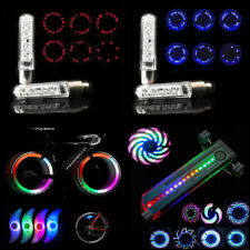 1/2/4x LED Flashing Bicycle Cycling Bike Wheel Valve Wire Tyre Light Spoke Lamp
