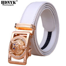 Men's 2017 Designer Leather Belts Automatic Waist Strap with wolf head buckle