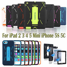 Shockproof Hybrid Heavy Duty lot Military Hard Case  Rubber Cover For apple iPad