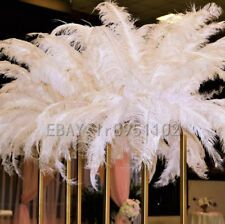 Wholesale 10/50/100PCS White Ostrich Feathers 12-14inches/30-35cm Wedding adorn