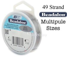 Beadalon 49 Strand BRIGHT Stainless Steel Wire ~ Maximum Flexibility & Strength