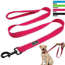 "48"" Nylon Reflective Dog Leash Soft Padded Handle Pet Walking Leads for Dogs M L"