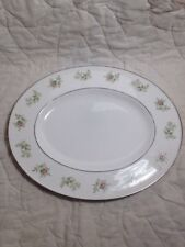 "(A69) 13"" Oval Serving Platter in Green Duchess by Tuscan-Royal Tuscan Wedgwood"