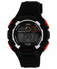 Timex T499739J Mens ExpEd. Global Shock-Resistant Watch W/ Black Resin Band