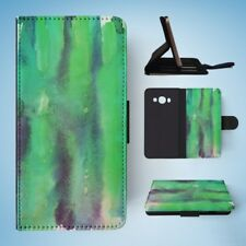 GREEN WATERCOLOR 43 FLIP WALLET CASE COVER FOR SAMSUNG GALAXY J5(2016)