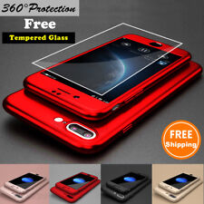360° Protective Slim Hard Case Cover For iPhone 6 6S 7 Plus+Screen Protector