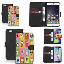 faux leather wallet case for many Mobile phones - lovebirds