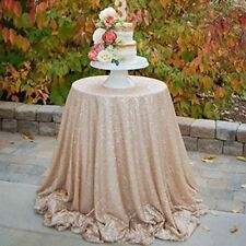 New Design Round Shape Solid Color Wedding Party Decoration Tablecloth