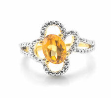 925 Sterling Silver Ring with Yellow Citrine Oval Cut Natural Gemstone eBay