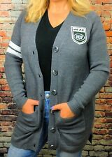 New York Jets Varsity Size M Vintage Gray Cardigan Sweater ~ NEW with tags ~