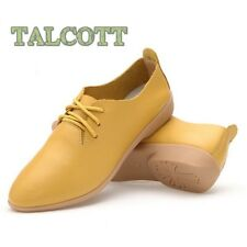 Split Leather Oxford Shoes For Women Pointed Toe Casual Nurse Shoes Autumn Flat