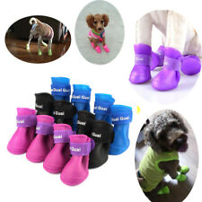1Set 4Pcs Soft Waterproof Dog Boots Rubber Pet Rain Shoes Booties Free Shipping