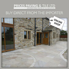 Raj Green INDIAN SANDSTONE PAVING PACKS / CIRCLES / SETTS - WITH YOU IN 2 DAYS*