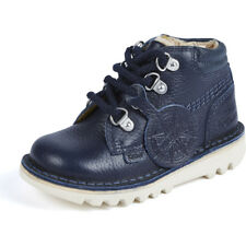 Kickers Kick Chuk I Navy Leather Infant Ankle Boots