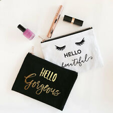 Hello Gorgeous Beautiful Bride Bridesmaid Personalized Cosmetic Bag Gifts Q47209