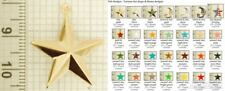 Star-shaped decorative fobs, various designs & keychain options
