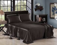 Soft Satin Sheet Microfiber Fabric Set Ultra Silky Full, Queen, King Sizes Bed