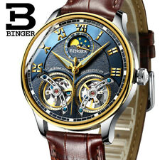 Mechanical Men's Watch Wrist Skeleton Automatic Steel Stainless Leather S Luxury