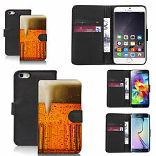 pu leather flip wallet case for many Mobile phones - pint
